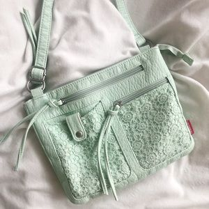 Unionbay • Mint Crossbody Crochet Bag